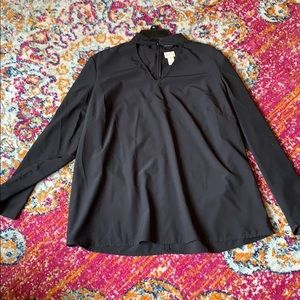 Chico's blouse with button detail